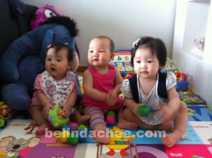 With her BFFs, Alayna and Estelle