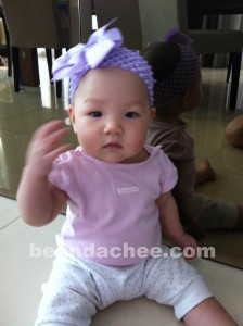9 Months! No more headbands after this month coz I will yank them off!! :)