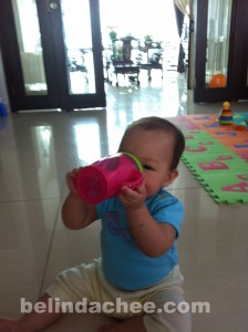 I can drink from a sippy cup!